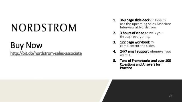 How to Prepare for the Sales Associate Interview at Nordstrom?