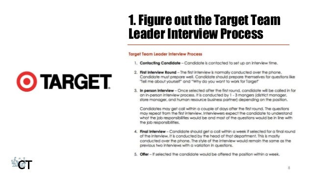 How To Prepare For The Target Team Leader Interview