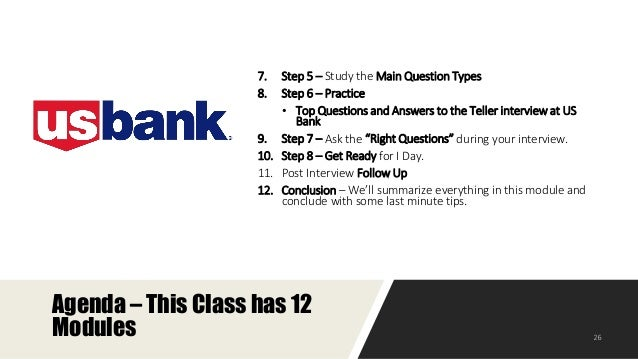 teller job description at us bank 26 - Bank Teller Interview Questions And Answers
