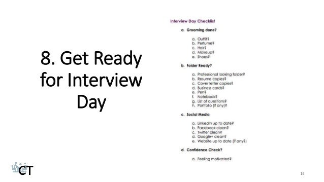 Get Ready For Interview Day