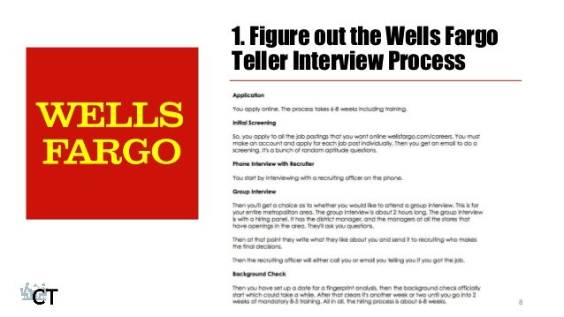 figure out the wells fargo teller interview process 8 - Bank Teller Interview Questions And Answers