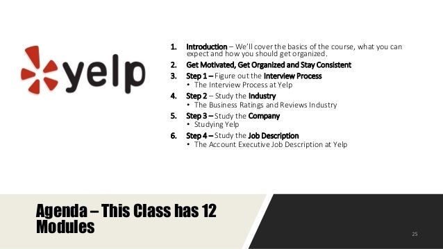 Yelp Sales Associate Interview