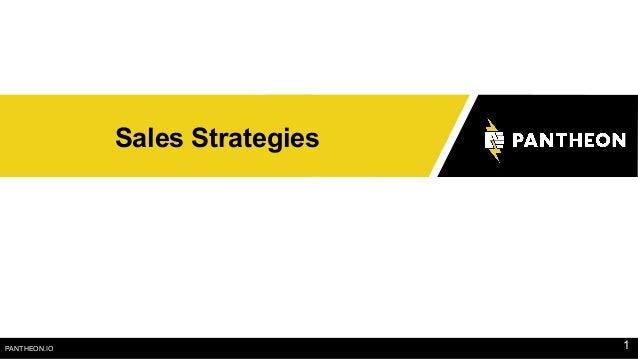 PANTHEON.IO Sales Strategies 1