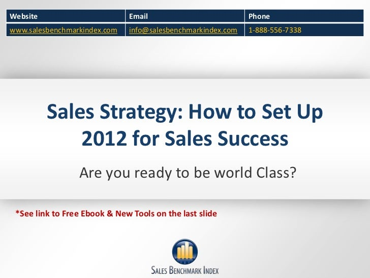 Sales Strategy: How to Set Up 2012 for Sales Success