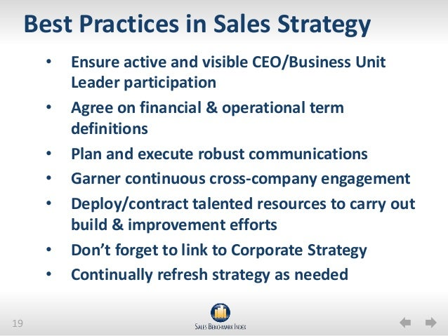 Sales strategy 2013 success