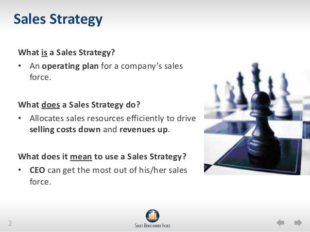 sales business plan strategy section