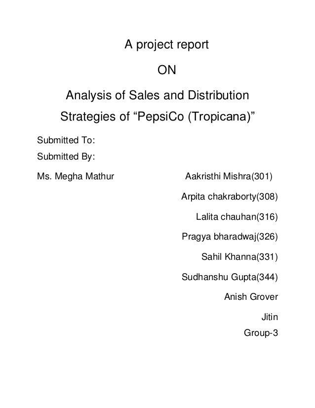 Sales strategy pepsi tropicana Slide 2