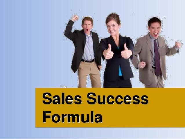 Sales Success Formula