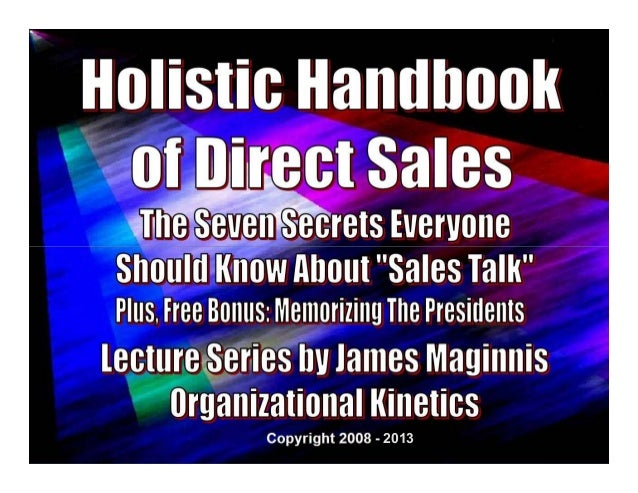 1Holistic Handbook To Direct Sales- 2013