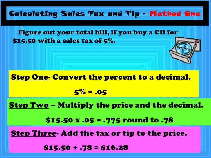 Sales tax and tip powerpoint