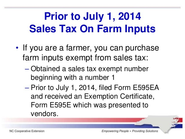 North Carolina Sales tax update