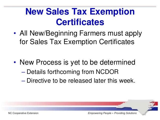 North Carolina Sales tax update