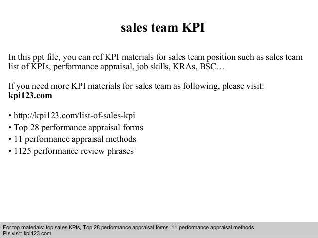Sales Team Kpi
