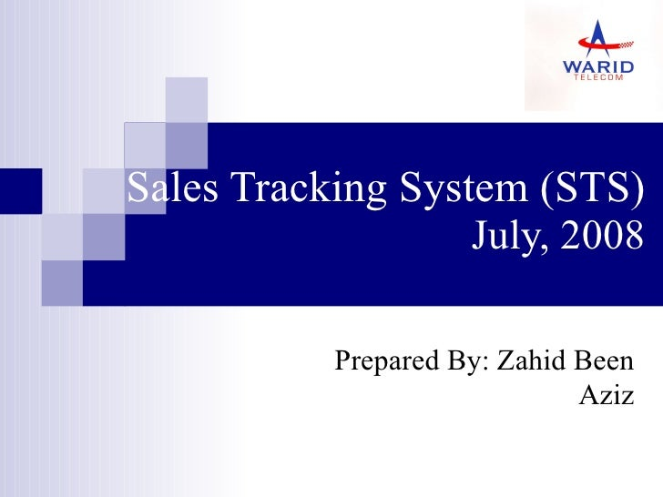 Sales tracking system (sts)