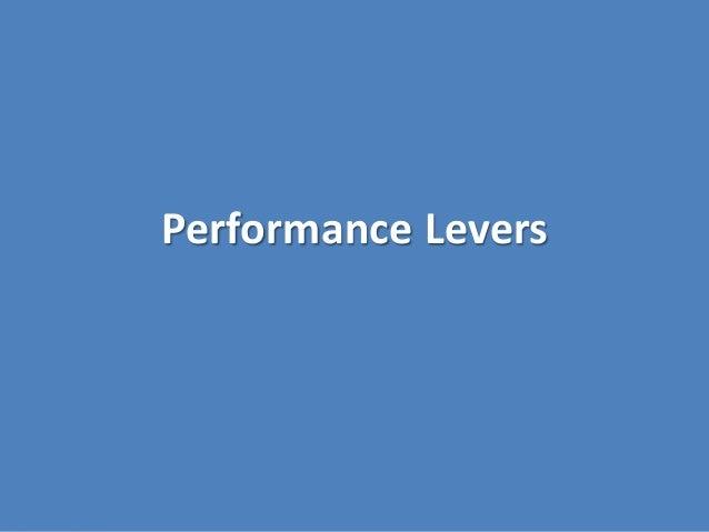 Performance Levers