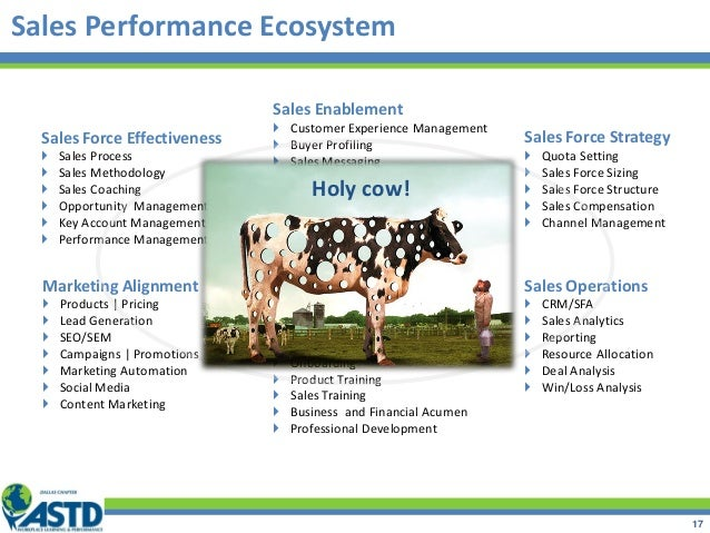 Sales Performance Ecosystem 17 Sales Talent Management  Selection  Onboarding  Product Training  Sales Training  Busi...