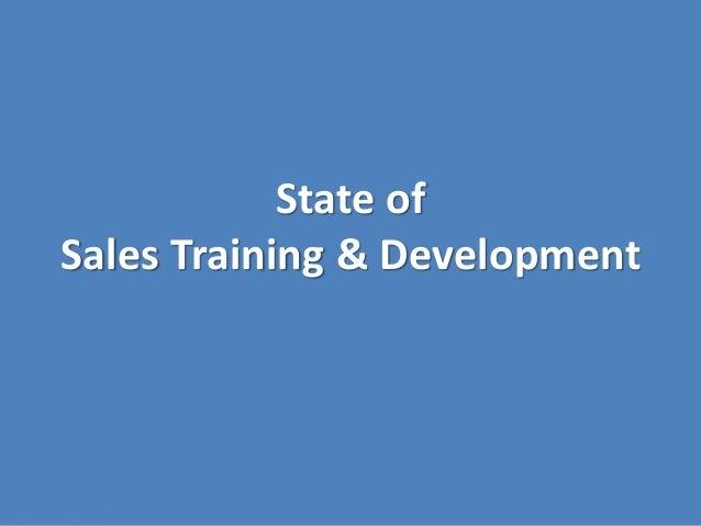 State of Sales Training & Development
