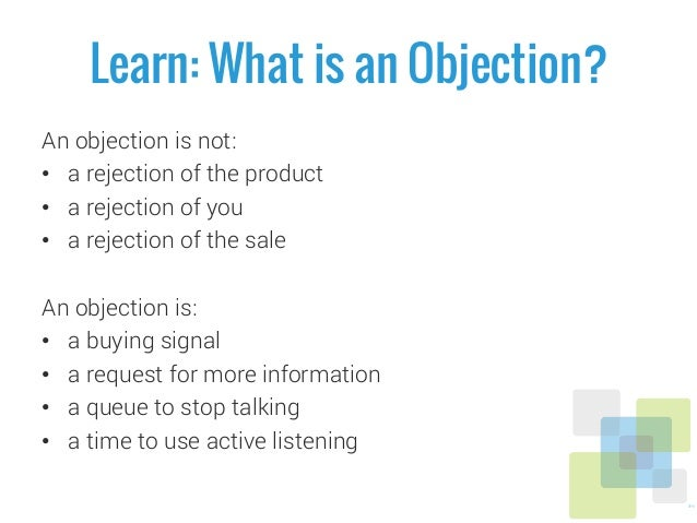 Health Plan Sales Training - Overcoming Objections Section.