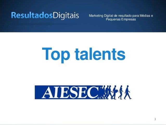 11 Top talents Marketing Digital de resultado para Médias e Pequenas Empresas