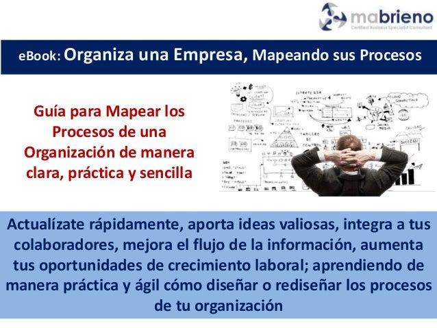Guía para Mapear los Procesos de una Organización de manera clara, práctica y sencilla Actualízate rápidamente, aporta ide...