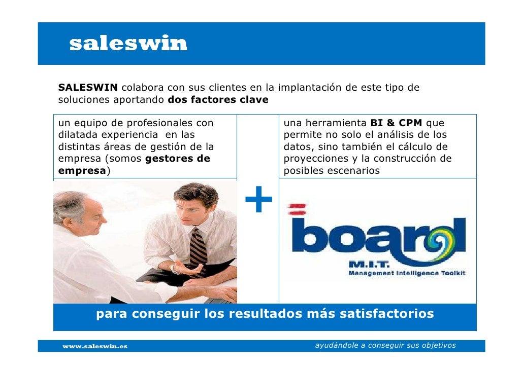 SALESWIN colabora con sus clientes en la implantación de este tipo de soluciones aportando dos factores clave  un equipo d...