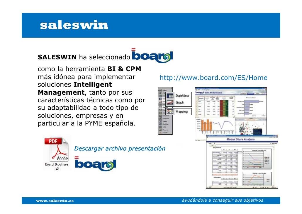 SALESWIN ha seleccionado como la herramienta BI & CPM más idónea para implementar                               http://www...