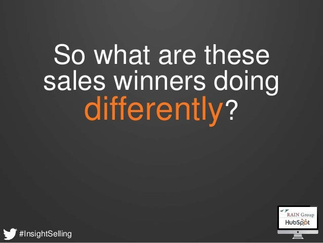 What Sales Winner do Differently - HubSpot & RAIN Group Webinar Slide 5