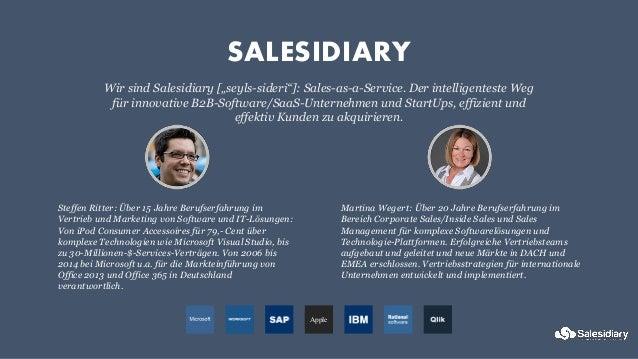 Sales Workshop Salesidiary für BayStartUp 13 Jan 2015 Steffen Ritter Slide 3