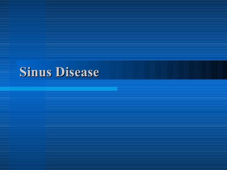 Sinus Disease