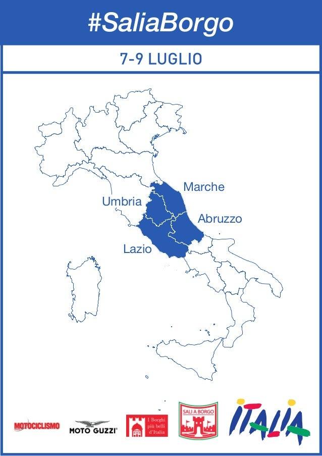 Marche Abruzzo Lazio Umbria #SaliaBorgo