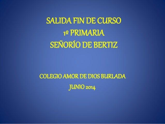 SALIDA FINDE CURSO 1º PRIMARIA SEÑORÍO DE BERTIZ COLEGIO AMORDE DIOSBURLADA JUNIO2014