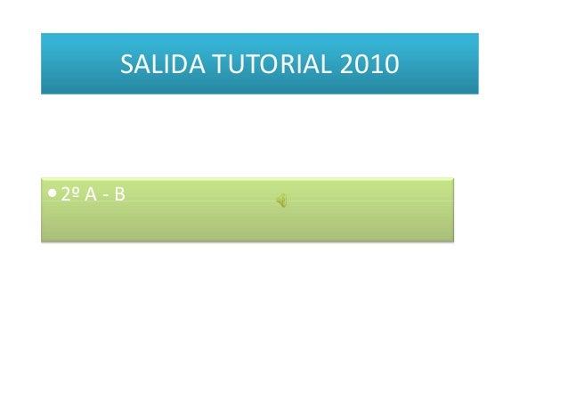 2º A - B SALIDA TUTORIAL 2010 2º A - B