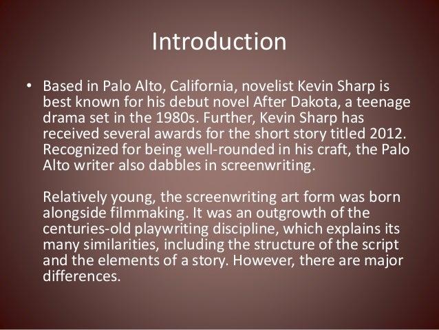 novels written like screenplays