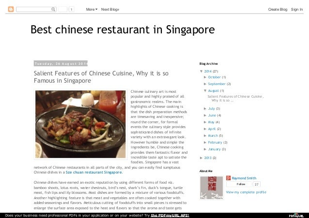 Salient features of chinese cuisine why it is so famous in singapore 1 more next blog create blog sign in best chinese restaurant in singapore t u e s d a y forumfinder Gallery