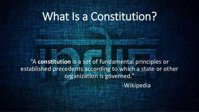 Salient features of indian constitutions