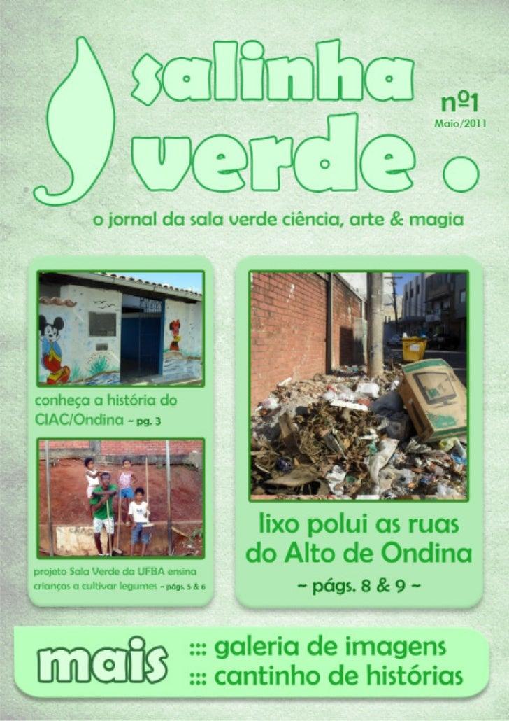 Jornal da Sala Verde Ciência, Arte &Magia - IBIO/UFBA - Maio 2011                               2                         ...