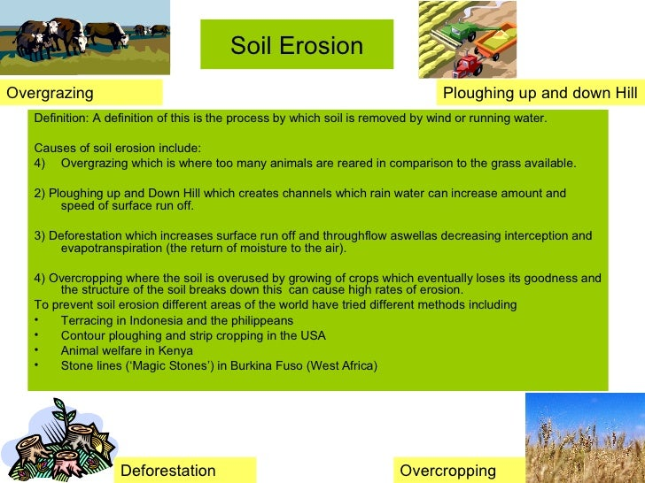 Salinization and soil erosion for What is the origin of soil
