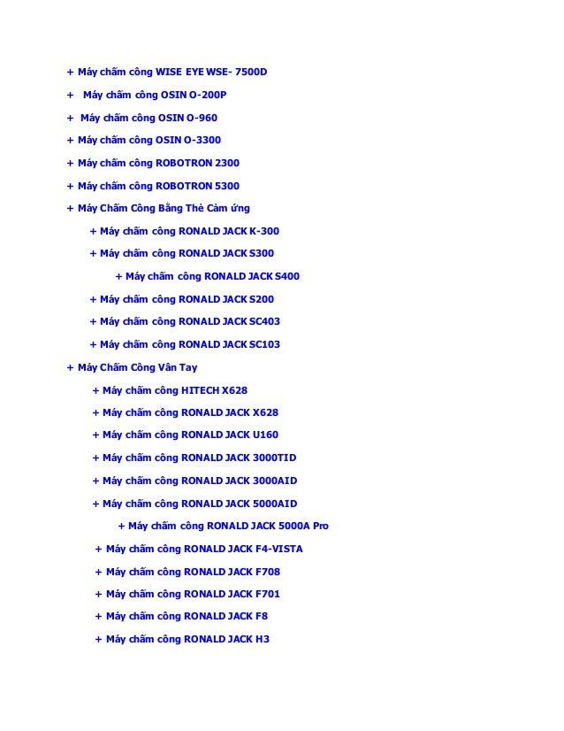 Hướng Dẫn Sửa lỗi phần mềm máy chấm công mitaco 5v2 Slide 2
