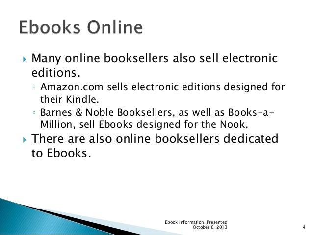 Ebook powerpoint ebook information presented october 6 2013 3 4 fandeluxe Gallery