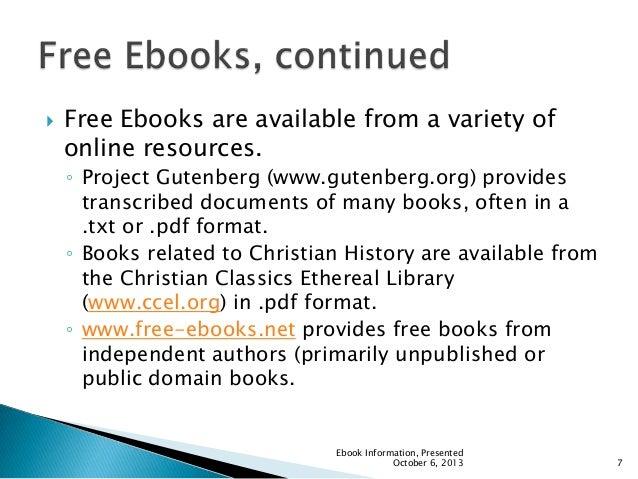 Ebook powerpoint ebook information presented october 6 2013 6 7 fandeluxe Gallery