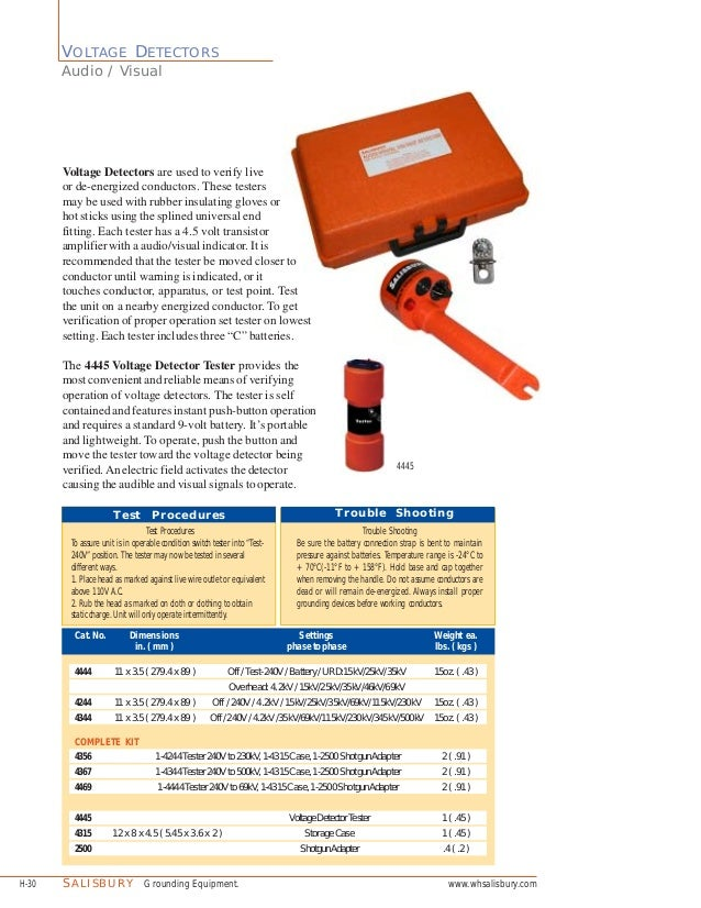 Salisbury Voltage Detector : Salisbury voltage detector kits