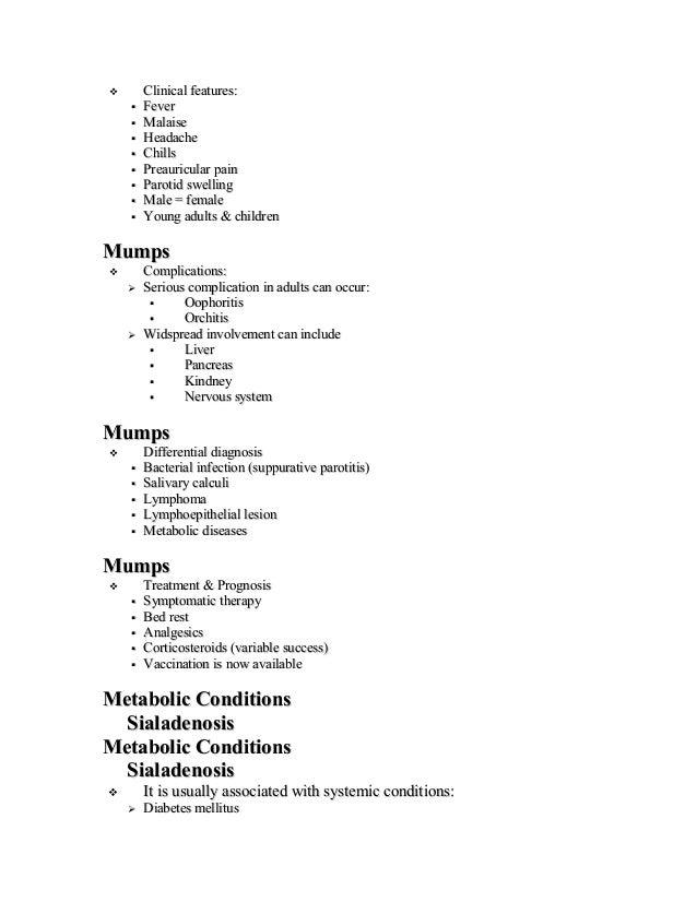 Salivary gland pathology