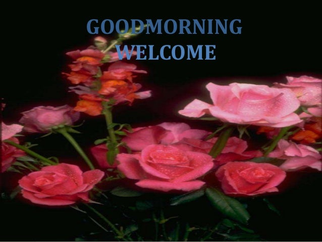 GOODMORNING  WELCOME