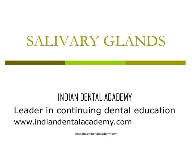 SALIVARY GLANDS  INDIAN DENTAL ACADEMY Leader in continuing dental education www.indiandentalacademy.com www.indiandentala...