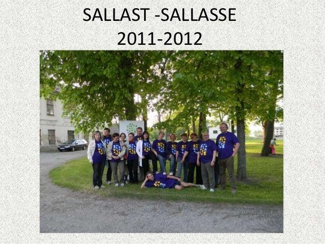 SALLAST -SALLASSE    2011-2012