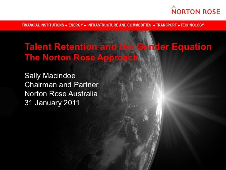 FINANCIAL INSTITUTIONS   ENERGY   INFRASTRUCTURE AND COMMODITIES   TRANSPORT TECHNOLOGY Talent Retention and the Gender Eq...