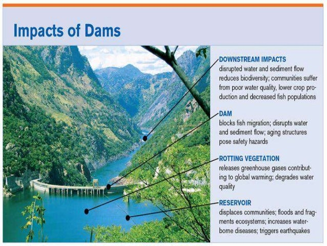 impacts of dams to riverine societies Modelling the effects of dams  why dams matter this century we have collectively bought, on average, one large dam per day-world commission on dams, 2000 dams deliver many benefits, but often at a high price with adverse and lasting impacts though this dam modeling project, we are forming lasting and productive collaborations around the direct explication and assessment of the socioeconomic, biophysical and geopolitical impacts, both beneficial and nonbeneficial, associated with dams.