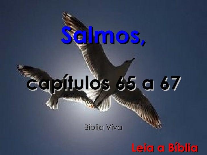Salmos, capítulos 65 a 67 Bíblia Viva Leia a Bíblia