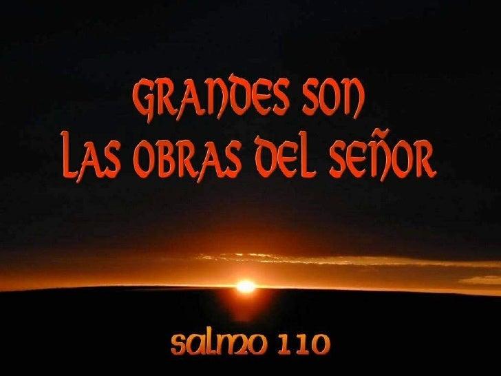 Resultado de imagen de Salmo 110