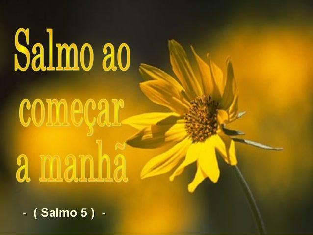 - ( Salmo 5 ) -- ( Salmo 5 ) -
